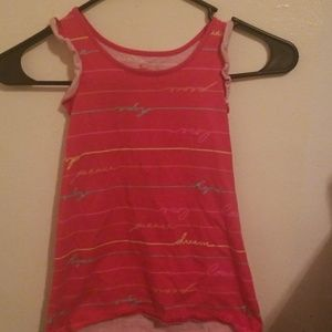 Pink with multiple color designed shirt size 4/5